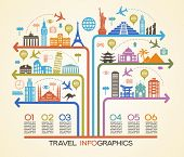 stock photo of world-famous  - Infographics elements - JPG