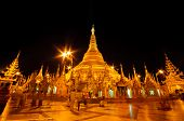 Night Of Shwedagon Paya In Yangon, Burma