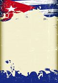 Grunge Cuban flag. A poster with a large scratched frame and a grunge cuban flag for your publicity. poster