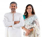picture of traditional attire  - Indian couple - JPG