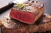 stock photo of rib eye steak  - beef steak - JPG