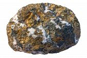 stock photo of quartz  - Copper ore chalcopyrite  - JPG