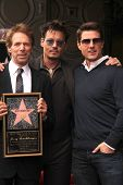 LOS ANGELES - JUN 24:  Jerry Bruckheimer, Johnny Depp, Tom Cruise at  the Jerry Bruckheimer Star on