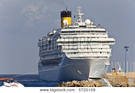 Cruise ship at Rhodes island, Greece