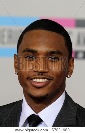 Trey Songz  at the 2010 American Music Awards Arrivals, Nokia Theater, Los Angeles, CA. 11-21-10