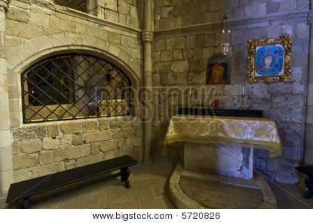 Old historic monastery of Filerimos at Rhodes island in Greece