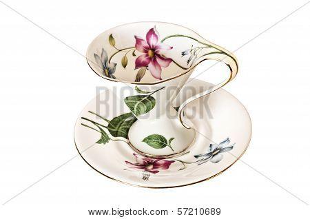 Antique China Tea Cup and Saucer