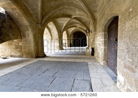 Templar knights palace at Rhodes, Greece