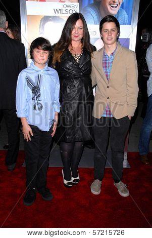 Jennifer Nicholson with sons Sean, Duke  at the