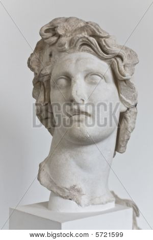 Alexander the Great ancient statue (head part)