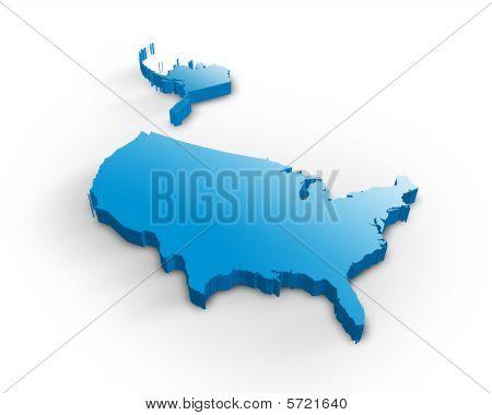 EUA mapa 3d