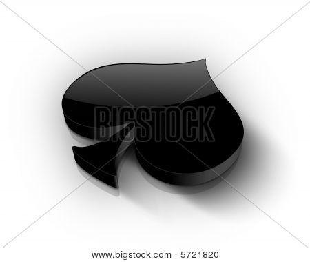 Black spade