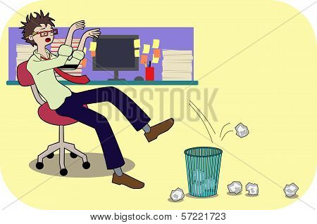 Bored Businessman Illustration