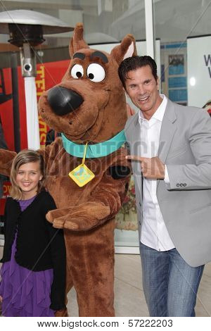 Lorenzo Lamas and Daughter at the opening of