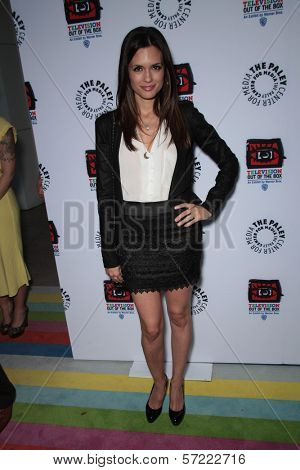 Torrey DeVitto at the opening of