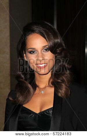 Alicia Keys at the 23rd Annual Producers Guild Awards, Beverly Hilton, Beverly Hills, CA 01-21-12