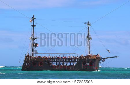 Pirate party boat in Punta Cana, Dominican Republic
