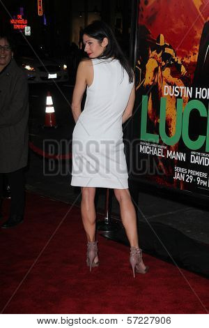 Jill Hennessy at the premiere of HBO's