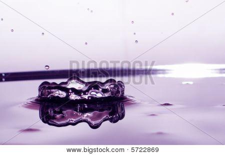 splashing water drop..