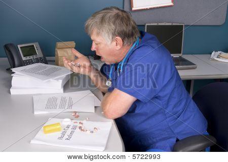 Doctor Taking Pills