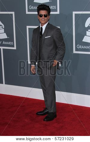 Bruno Mars at the 54th Annual Grammy Awards, Staples Center, Los Angeles, CA 02-12-12