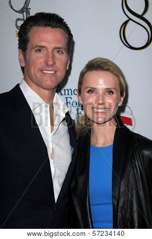 Gavin Newsom, Jennifer Siebel Newsom at the West Coast Premiere Reading of