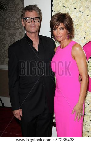 Harry Hamlin, Lisa Rinna at the QVC Red Carpet Style Event, Four Seasons Hotel, Los Angeles, CA 02-23-12