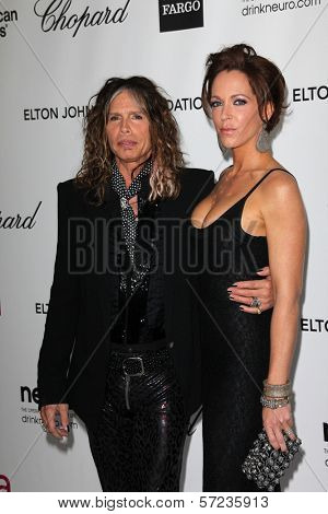 Steven Tyler, Erin Brady at the 20th Annual Elton John AIDS Foundation Academy Awards Viewing Party, West Hollywood Park, West Hollywood, CA 02-26-12