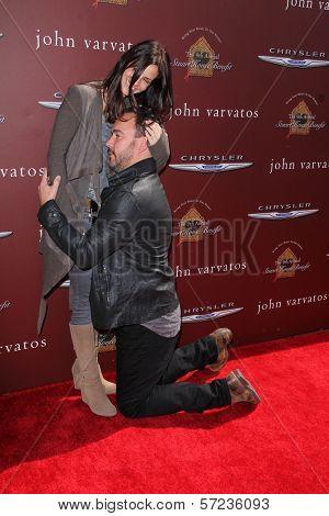 Joyce Varvatos, Dave Matthews at the John Varvatos 9th Annual Stuart House Benefit, John Varvatos Boutique, West Hollywood, CA 03-11-12