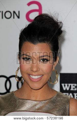 Kourtney Kardashian at the 20th Annual Elton John AIDS Foundation Academy Awards Viewing Party, West Hollywood Park, West Hollywood, CA 02-26-12