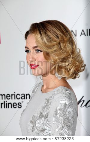 Miley Cyrus at the 20th Annual Elton John AIDS Foundation Academy Awards Viewing Party, West Hollywood Park, West Hollywood, CA 02-26-12