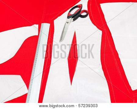 Cutting Fabric For Dresses