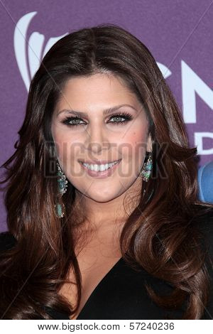 Hillary Scott at the 47th Academy Of Country Music Awards Press Room, MGM Grand, Las Vegas, NV 04-01-12