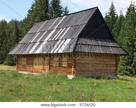 Traditional Wooden Mountain Cottage