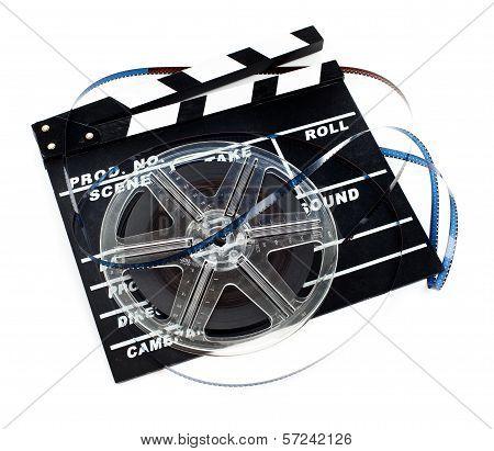 Retro Film Reel With Ciak