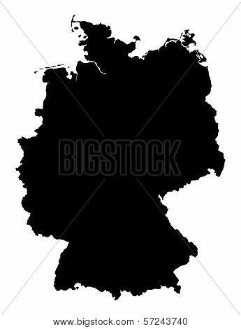 Germany Illustration Map