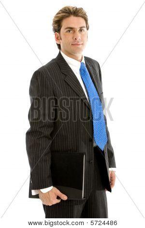Business Man With Portfolio