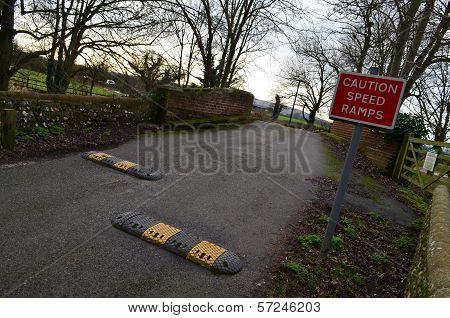 Caution Speed Ramps.