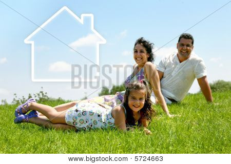 Family House - Family On The Grass