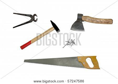 Set of joiner's tools