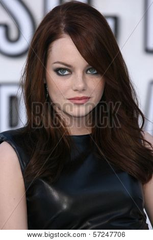 Emma Stone at the 2010 MTV Video Music Awards, Nokia Theatre L.A. LIVE, Los Angeles, CA. 08-12-10