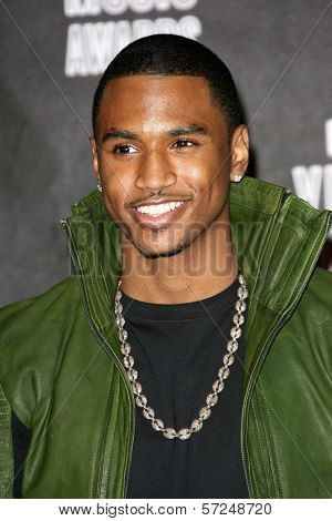 Trey Songz at the 2010 MTV Video Music Awards Press Room, Nokia Theatre L.A. LIVE, Los Angeles, CA. 08-12-10