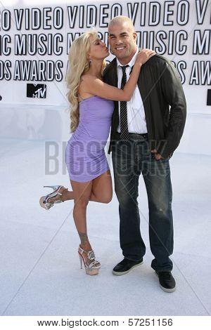 Jenna Jameson and Tito Ortiz at the 2010 MTV Video Music Awards, Nokia Theatre L.A. LIVE, Los Angeles, CA. 08-12-10