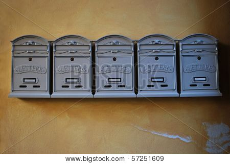 Mailboxes In Vintage Style