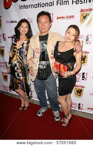 Yumi Yoshiyuki, Yutaka Ikejima and Reiko Yamaguchi at the Boobs and Blood International Film Festival Opening Night, New Beverly Cinema, Los Angeles, CA. 09-24-10