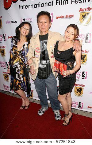 Yumi Yoshiyuki, Yutaka Ikejima and Reiko Yamaguchi at the Boobs and Blood International Film Festival Opening Night, New Beverly Cinema, Los Angeles, CA. 09-24-10