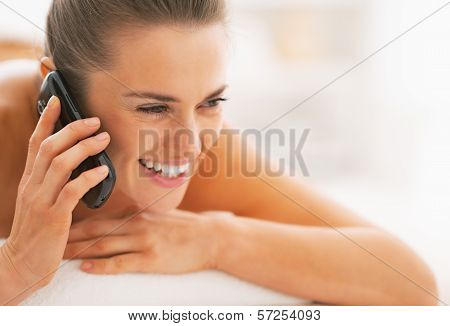 Portrait Of Young WomanOn Massage Table