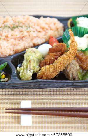 Contemporary Japanese ready-made lunchbox  bento box