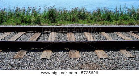 Part of the Circum-Baikal railroad
