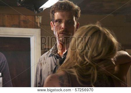Ryan Honey and Jennifer Blanc  On the Set of